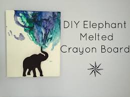 DIY Elephant Melting Crayon Board