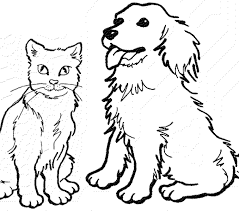 Coloring Site Cat And Dog Pages