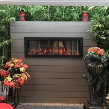 """Touchstone Sideline Outdoor Indoor 50"""" Wall Mounted Electric Fireplace"""