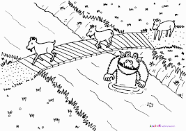 Billy Goats Gruff Coloring Page