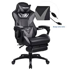 ELECWISH Ergonomic High-Back Gaming Chair With Massage Function Office Desk  Chair Swivel Black PC Gaming Chair With Extra Soft Headrest, Lumbar ... Xtrempro G1 22052 Highback Gaming Chair Blackred Details About Ergonomic Racing Gaming Chair High Back Swivel Leather Footrest Office Desk Seat Design Computer Axe Series Blackred Check Out Techni Sport Racer Style Video Purple Shopyourway Topsky Pu Executive Merax 217lx 217w X524h Blue Amazoncom Mooseng New Lumbar Support And Headrest Akracing Masters Premium Highback Carbon Black Energy Pro