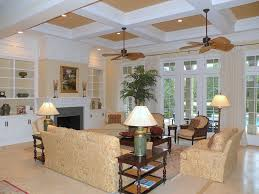 Living Room With Fireplace And Bookshelves by Traditional Living Room With Stone Fireplace U0026 Box Ceiling In