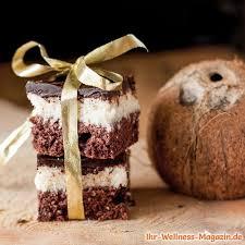 low carb kokos schoko schnitten rezept ohne zucker