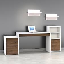 Desk Design Ideas Drawer Modern puter Desk White Simple Brown