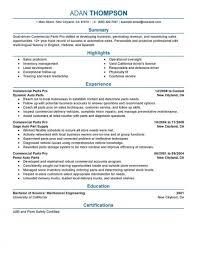Commercial Parts Pro Automotive Professional Of Resume Astounding A Ppt For Highschool Students In Order 1920