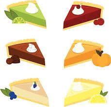Six Scrumptious Pies vector art illustration