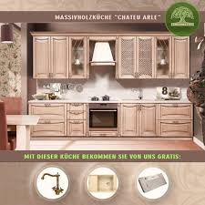 massivholzküche landhausküche küchenzeile 3 5m mediterraner