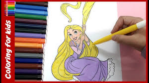 Colouring Pages For Children Free Coloring Rapunzel Tangled Shosh Channel