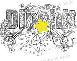 Diphit Swear Words Printable Coloring Pages Word
