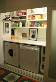 beautiful laundry closet shelves 25 ideas for small laundry spaces