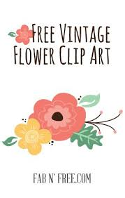 Free Vintage Flowers Clipart
