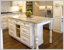 stylish granite top kitchen island with seating and antique rustic