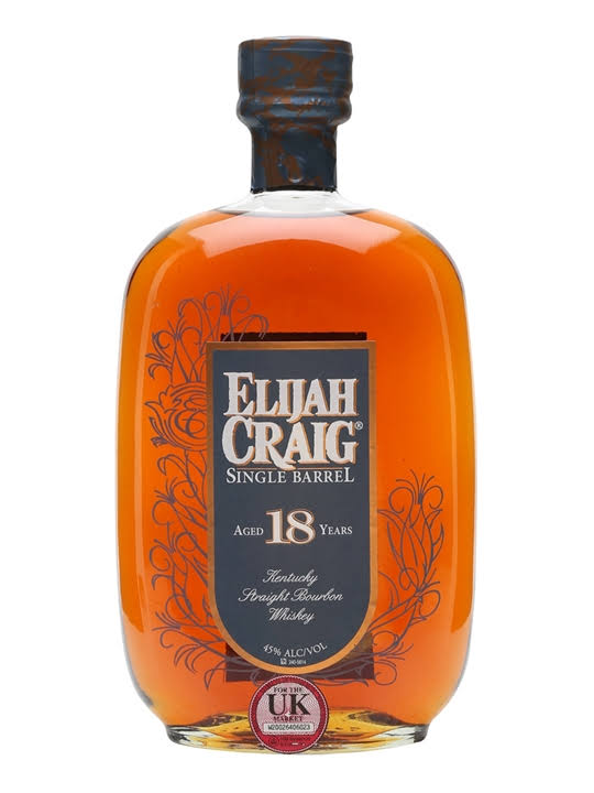 Elijah Craig 18 Year Old Single Barrel Bourbon Whiskey - 750 ml bottle