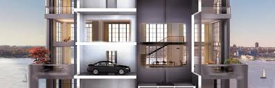 100 Car Elevator Garage NYC Manhattan Penthouse W 2400x1600 RoomPorn