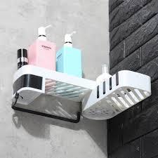 dreh faltbar badregal duschablage ohne bohren wand eckregal haken badezimmer