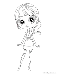 Littlest Pet Shop Coloring Pages Zoe Page To Print Free Printable Full Size