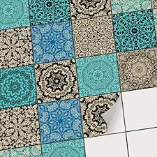 fliesen deko fliesenaufkleber für küche u bad i fliesenfolie fliesensticker klebefliesen mosaikfliesen dekorfolie i 10x10 cm motiv marokkanisch 9
