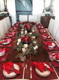 Dining Table Centerpiece Ideas For Christmas by 60 Christmas Dining Table Decor In Red And White Family Holiday