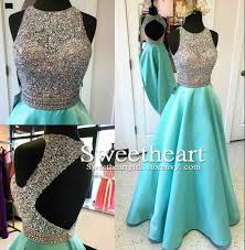a line round neck sequin backless long prom dress evening dress