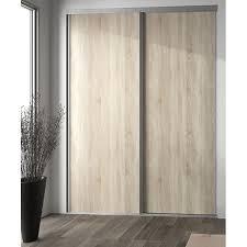 porte de placard coulissante chêne clair 62 x 245 cm valla castorama