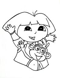 Printable Coloring Pages Of Dora In Jereclemengithub