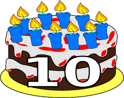 cake clipart 10 candle 2