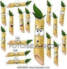 Clipart Of Sugarcane Cartoon K20576003