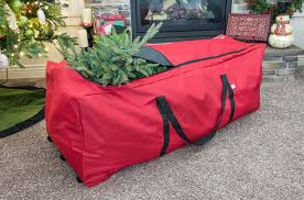 Upright Christmas Tree Storage Bag With Wheels by Rolling Christmas Tree Storage Bag In Christmas Tree Storage