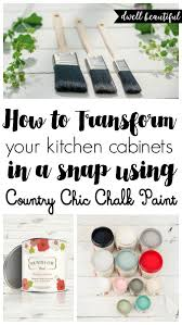 How To Paint Your Kitchen Cabinets With Chalk