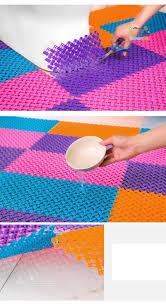 25cmx25cm 4pcs bathroom mosaic non slip mats pvc bath floor mat