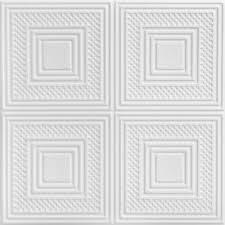 a la maison ceilings nested squares 1 6 ft x 1 6 ft foam glue up