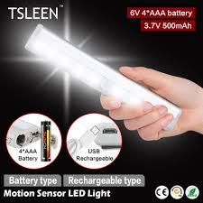 tsleen led pir motion sensor light wireless closet drawer