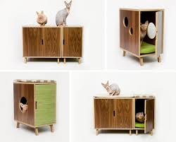 modern cat tower modernist cat mid century modern feline furniture hauspanther
