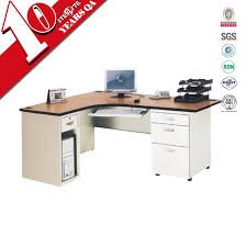 l shaped expandable computer desk with mobile 3 drawer cabinet