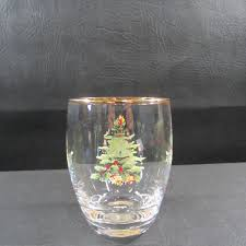Spode Christmas Tree Mugs by Spode Christmas Tree Holiday Rounded Gold Rim Tumbler Cocktail Glass