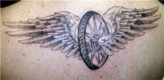 Winged Wheel Tattoo Back