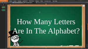 How Many Letters Are In The Alphabet YouTube