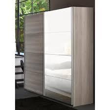armoire chambre 120 cm largeur armoire adulte 2 portes coulissantes 230 cm virginia l 230 x p 65