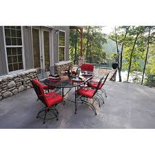 Meadowcraft Patio Furniture Glides by Meadowcraft Dogwood Wrought Iron 6 Person Patio Dining Set