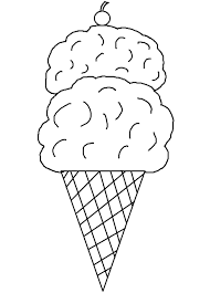Ice Cream Cone Coloring Page For Printable Pages