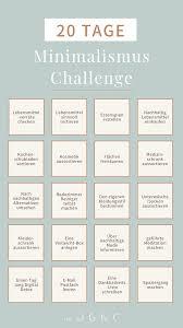 in 20 tagen zum minimalismus die challenge für den einstieg