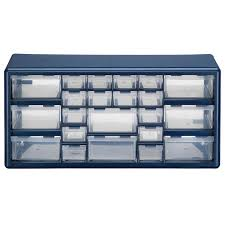 Plastic Drawers On Wheels by Shop Stack On 19 38 In X 9 62 In 22 Drawer Blue Plastic Drawer At