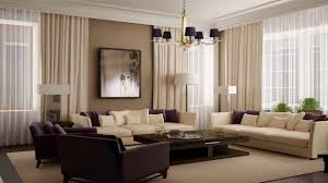 painting for modern living room with beige curtain