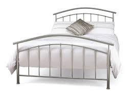 5ft king size silver metal bed frame