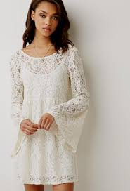 white long sleeve lace dress forever 21 naf dresses