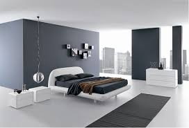 BedroomsCool Minimalist Bedroom With White Modern Bed On Latge Gray Fur Rug Also Small