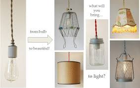 DIY Cloth Cord Swag Pendant Light Kits