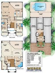 100 Beach Home Floor Plans Mediterranean House Plan Coastal Narrow Lot