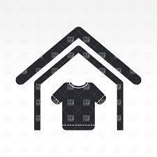 Clothing Shop Simple Icon Royalty Free Vector Clip Art
