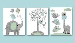Tree Wall Decor Baby Nursery by Baby Boy Nursery Art Print Nursery Wall Art Kids Wall Decor